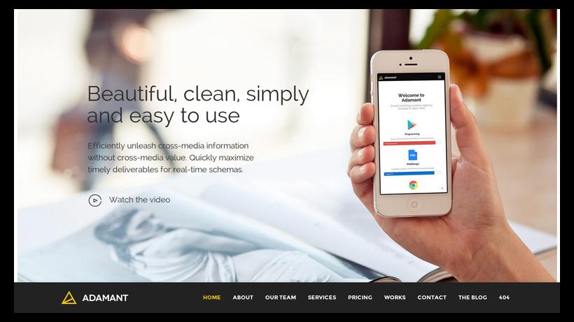 Adamant-minimalistisches-Webdesign-Beispiel