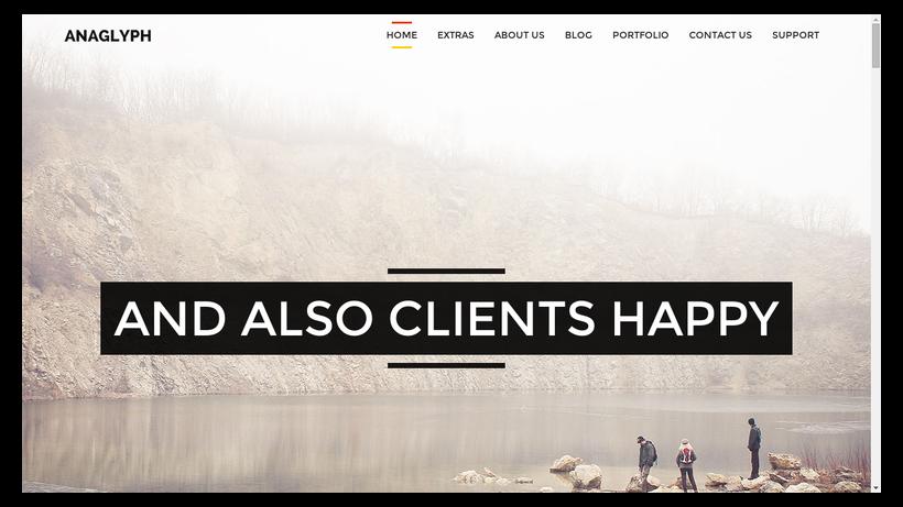 Anaglyph-minimalistisches-Webdesign-Beispiel