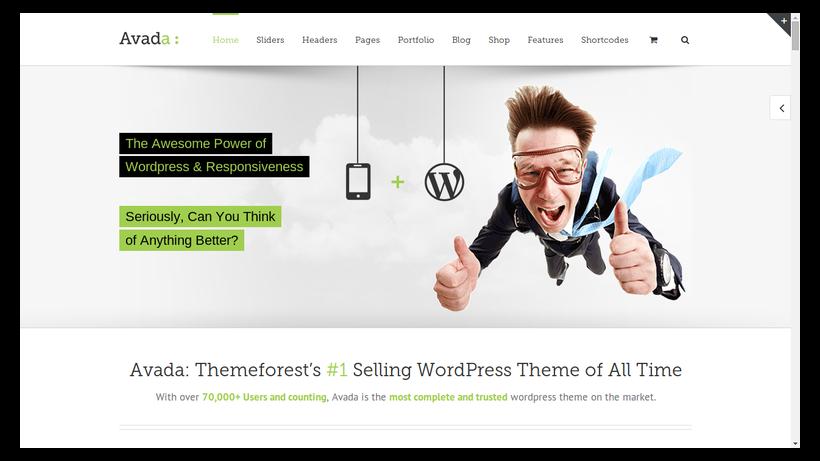 Avada-minimalistisches-Webdesign-Beispiel