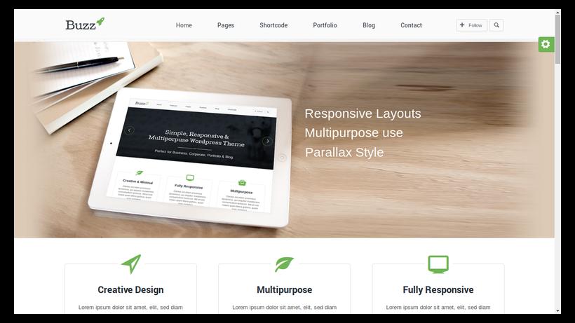 Buzz-minimalistisches-Webdesign-Beispiel