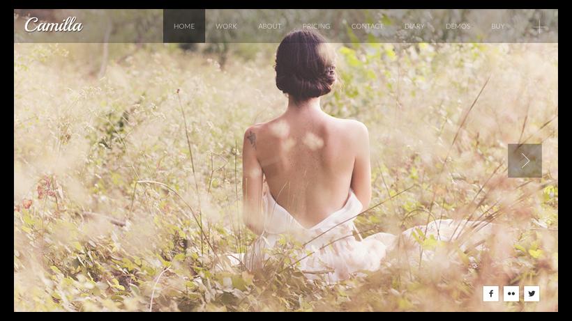 Camilla-minimalistisches-Webdesign-Beispiel