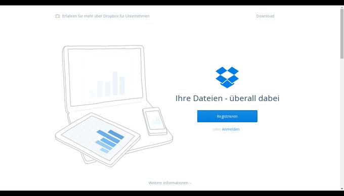 Dropbox-one-page-design