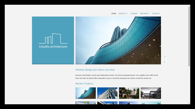 OneStudio-grid-style-webdesign-beispiel