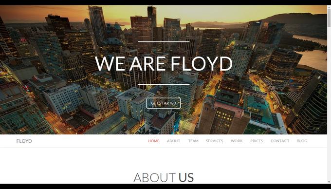 floyd-one-page-theme-beispiel