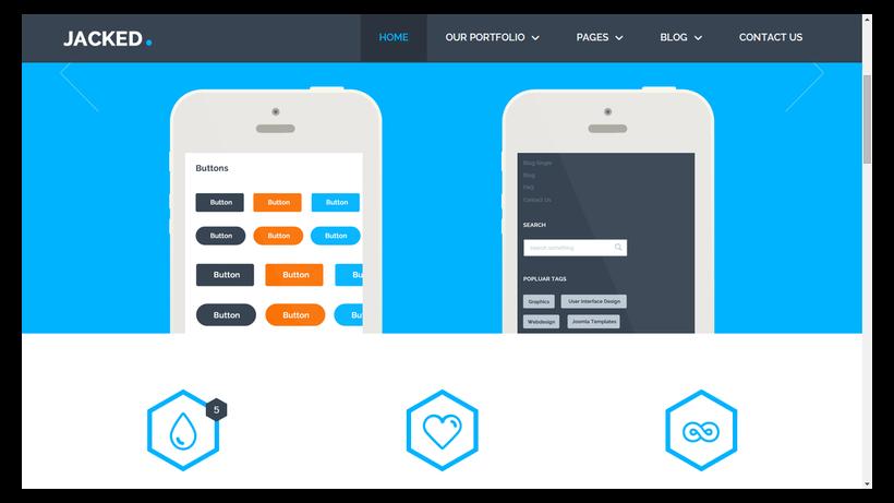 jacked-minimalistisches-Webdesign-Beispiel