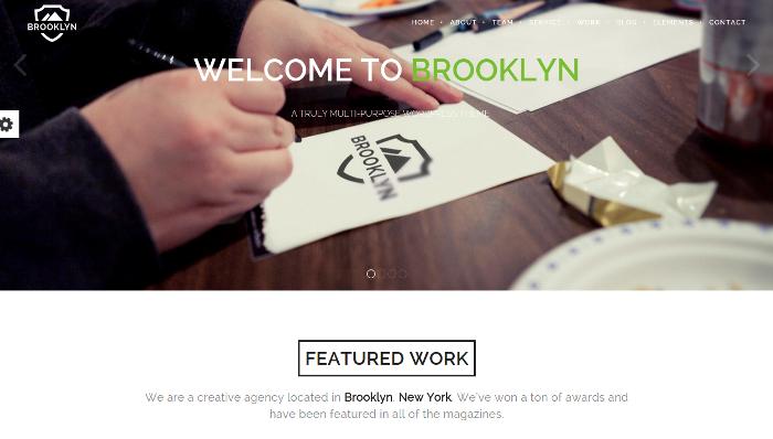 Brooklyn - Multi-Purpose WordPress Theme (Screenshot: themeforest.net)