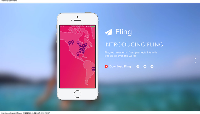 Fling-one-page-design