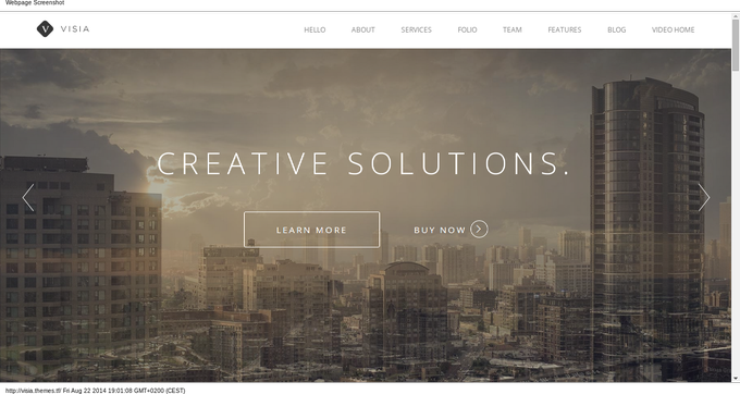 Visia-wordpress-theme-one-page-beispiel
